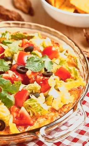 Taco Dip (picture From First Stage Of Recipe).