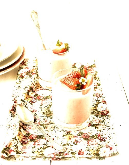 Strawberry, Vanilla Pudding Pratos e Travessas