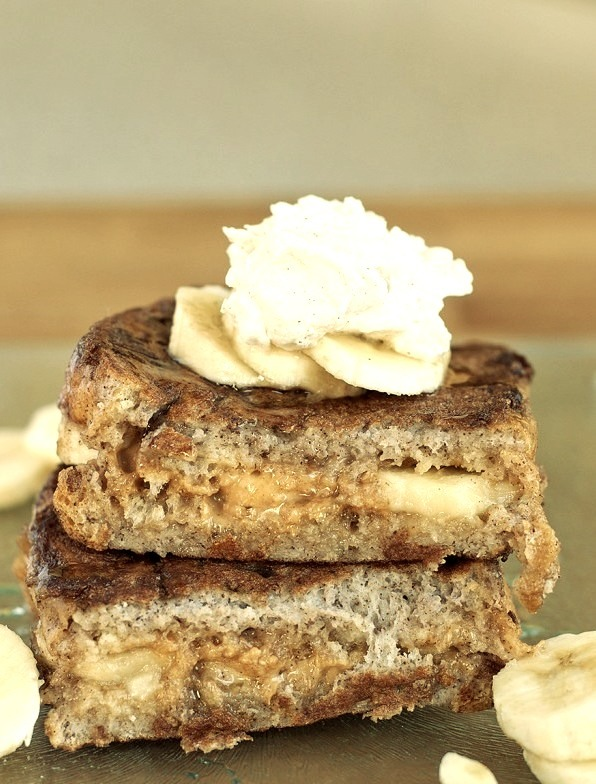 Peanut Butter & Banana Stuffed French Toast