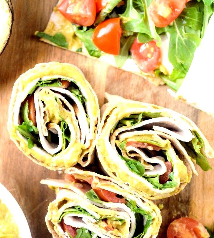 Spicy Avocado Mayo Turkey Club Rollups
