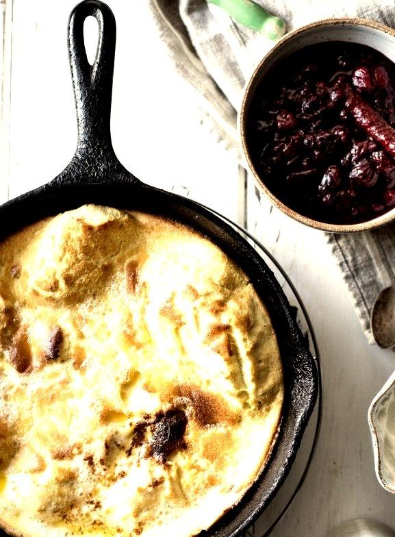 Sorghum Buttermilk Dutch Baby w/Maple Cranberry Sauce {GF} Bojon Gourmet