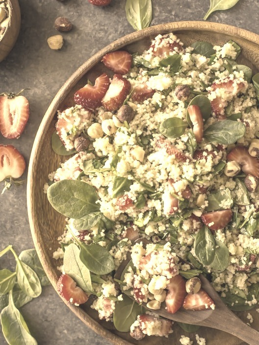 (via Strawberry and Couscous Spinach Salad Lovely Little Kitchen)